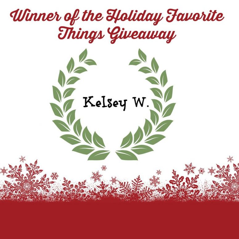 Congratulations Favorite Holiday Giveaway Winner