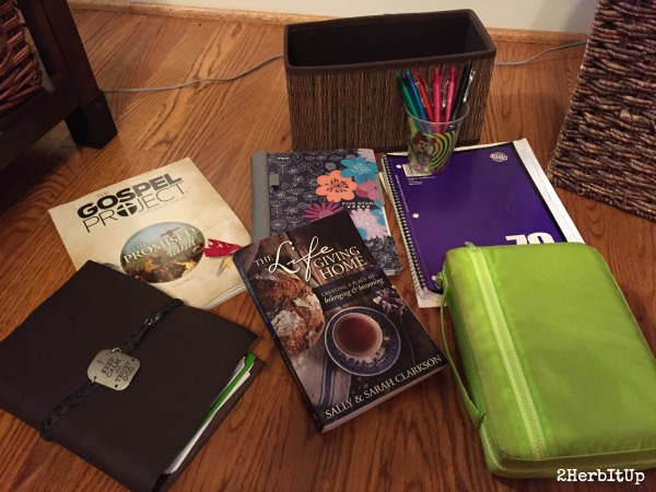 Here's some great ideas of what to keep handy for your quiet time and planning.