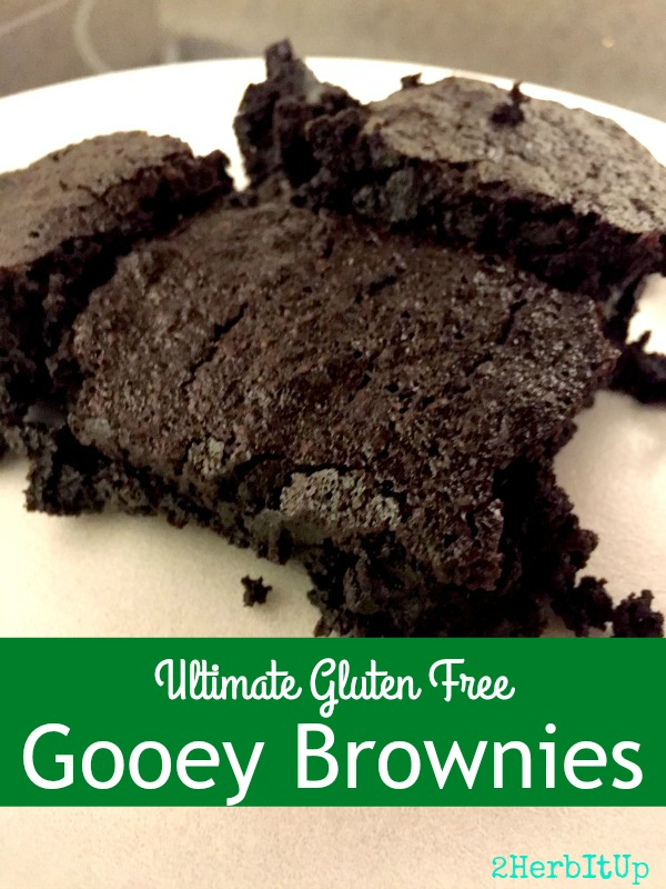 These gooey brownies are gluten free and so yummy! These have become our new family favorite!