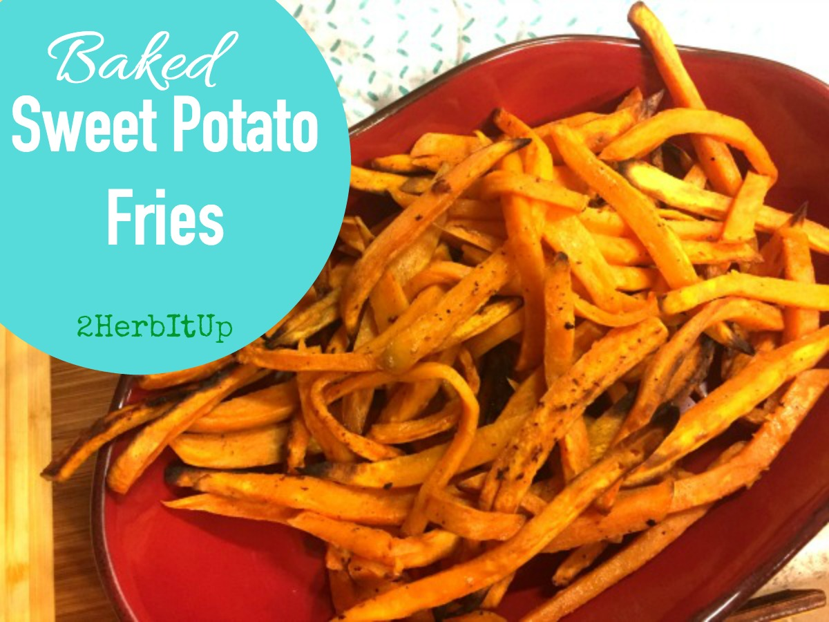 So quick and healthy, these baked sweet potato fries are a win!