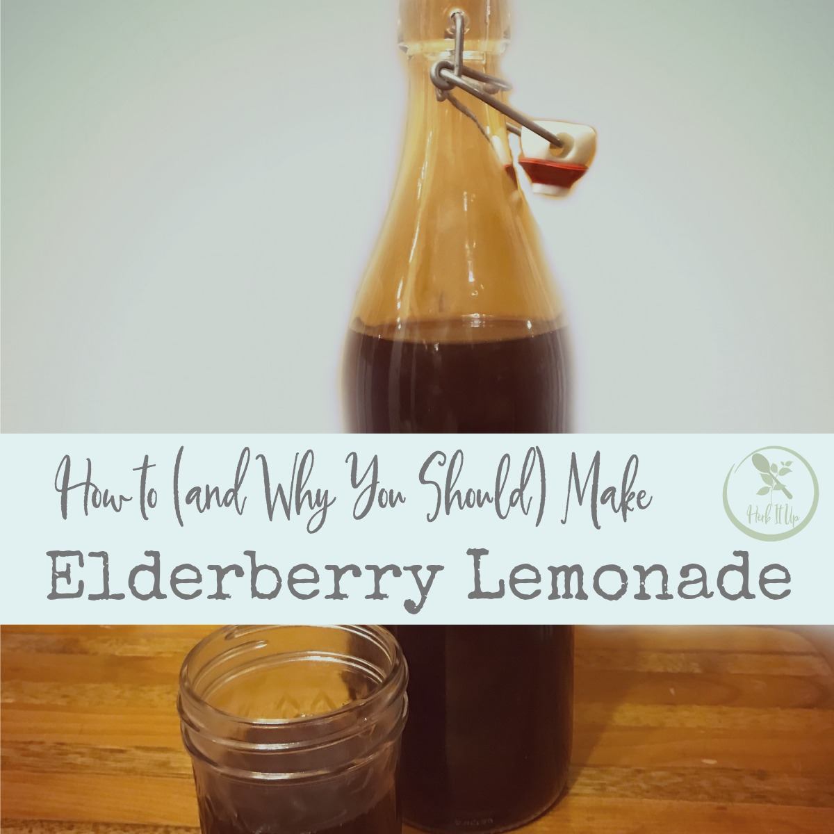 Boost immunity, help avoid the flu or knock it out quickly with this elderberry lemonade.