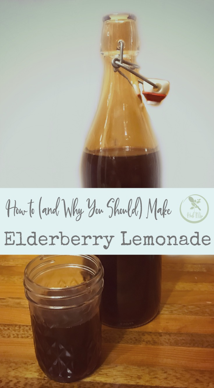 Boost our immunity, avoid the flu or knock it out sooner with this elderberry lemonade.