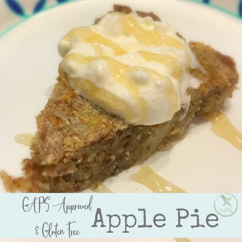 GAPS Approved Apple Pie Recipe (Gluten Free)