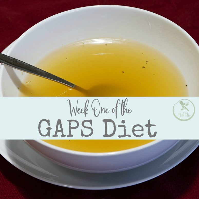 Week One of the GAPS Diet