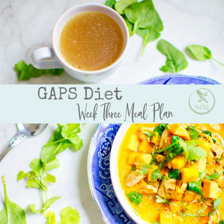 Week Three of GAPS Meal Plan
