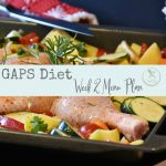 Week two of the GAPS diet meal plan.