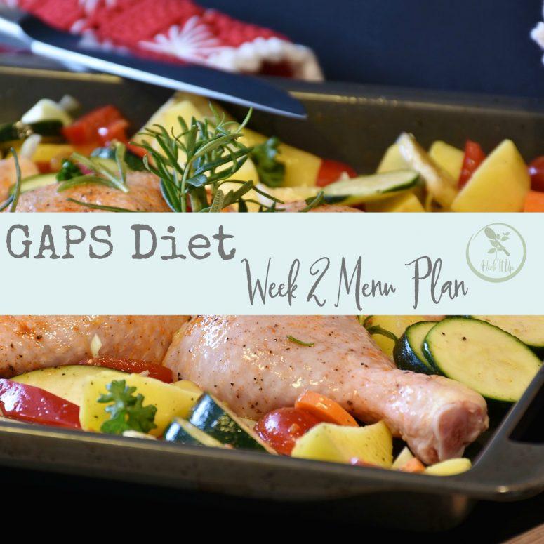Week Two of the GAPS Diet Meal Plan