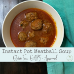 This Instant Pot meatball soup is GAPS approved and sure to be a family favorite.