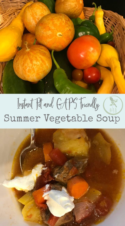 Instant Pot summer vegetable soup recipe