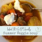 Instant Pot summer vegetable soup recipe